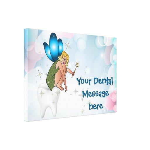 Lona envuelta oficina del dentista impresión en lona