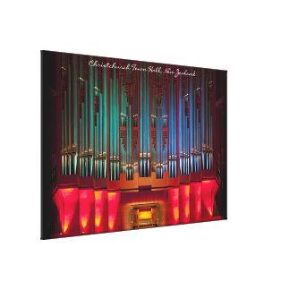 Lona envuelta órgano imponente con título lienzo envuelto para galerías