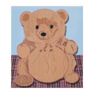 Lona envuelta oso de Wes T Impresión En Lona