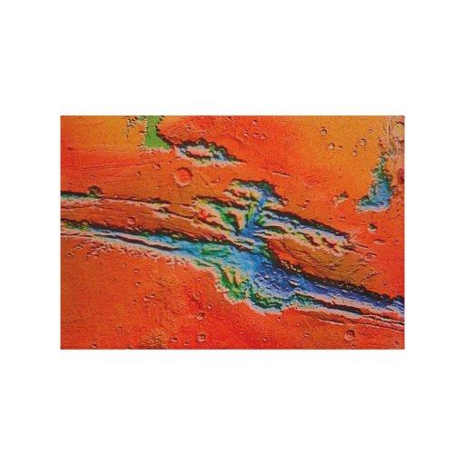 Lona envuelta paisaje de Marte Lona Envuelta Para Galerias
