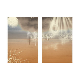 Lona envuelta paisaje marciano lienzo envuelto para galerias