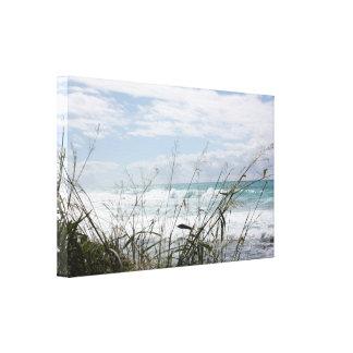 Lona envuelta paisaje marino hawaiano pacífico impresión en lona