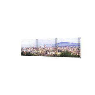Lona envuelta panorámica de Florencia Impresión En Lona Estirada