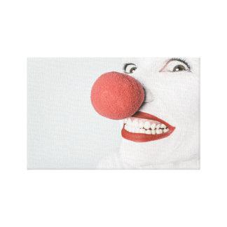 Lona envuelta payaso impresiones en lienzo estiradas