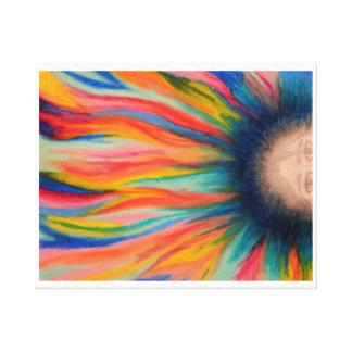 Lona envuelta pelo colorido impresión en lona