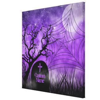 Lona envuelta personalizado púrpura estrellado del impresiones de lienzo