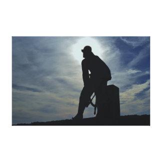Lona envuelta pescador de Gloucester Impresión En Lienzo