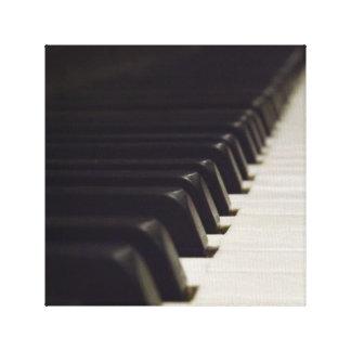 Lona envuelta Pianoforte Impresiones En Lona
