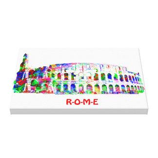 Lona envuelta pintura de Colosseum Impresión En Lona