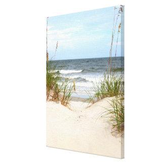 Lona envuelta playa impresión de lienzo
