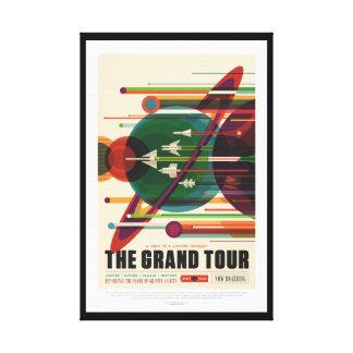 Lona envuelta poster retro del viaje de la NASA Impresión En Lienzo
