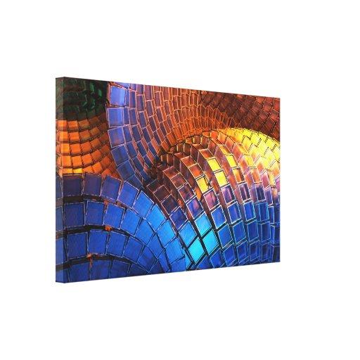 Lona envuelta premio de la forma de onda impresión en lienzo