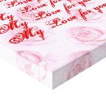 Lona envuelta premio de los rosas (lustre) impresion de lienzo