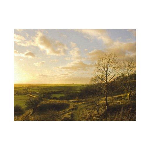 Lona envuelta premio - puesta del sol de Redhill Lona Estirada Galerías