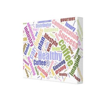 Lona envuelta premio sano del café (lustre) impresiones de lienzo