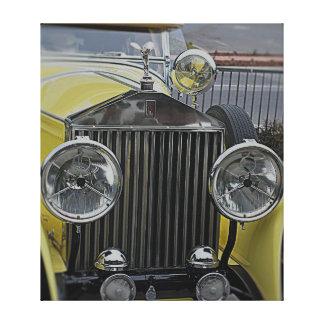 Lona envuelta Pring - Rolls Royce amarillo Impresión En Lienzo Estirada