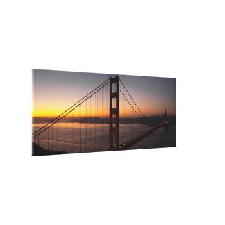 Lona envuelta puente Golden Gate de San Francisco Impresiones En Lona