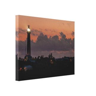 Lona envuelta puesta del sol del faro de la colina lona envuelta para galerias
