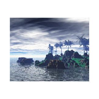 Lona envuelta que viene de la tormenta impresion de lienzo