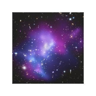 Lona envuelta racimo púrpura de la galaxia lona estirada galerias
