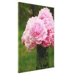 Lona envuelta ramo rosado del Peony Impresiones En Lona