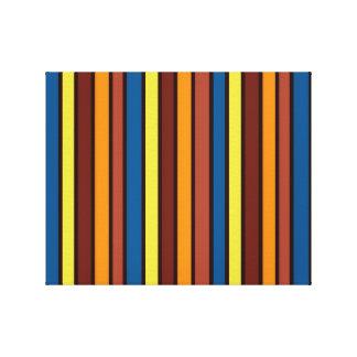 Lona envuelta rayada colorida impresion de lienzo