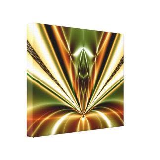 Lona envuelta reacción líquida abstracta del oro impresión en lienzo estirada