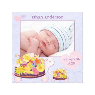 Lona envuelta regalo de la foto del bebé de las to impresion en lona