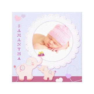 Lona envuelta regalo de la foto del bebé de los el lona envuelta para galerias