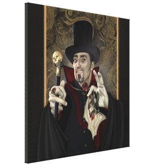Lona envuelta retrato de Drácula de la cuenta Impresión De Lienzo