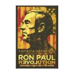 Lona envuelta revolución de Ron Paul Impresión En Lona Estirada