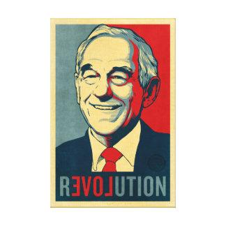 Lona envuelta revolución de Ron Paul Impresion En Lona