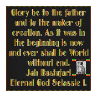 Lona envuelta rezo ceremonial de Rastafarian Impresion De Lienzo