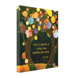 Lona envuelta romántica del regalo de boda de la impresión de lienzo
