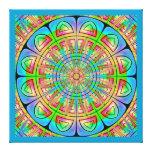 Lona envuelta rueda azteca impresiones de lienzo