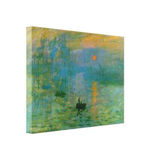 Lona envuelta salida del sol del impresionismo impresión en lienzo