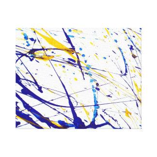 Lona envuelta salpicadura abstracta de la pintura lienzo envuelto para galerias