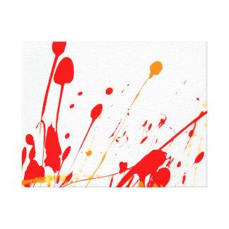 Lona envuelta salpicadura roja abstracta de la pin impresiones en lona