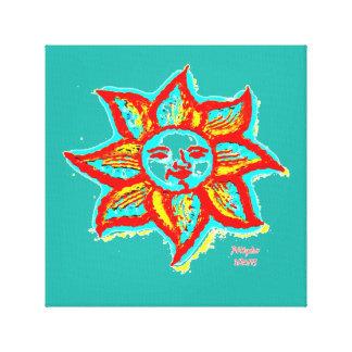 Lona envuelta Sun simplemente brillante Impresión En Lienzo