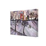 Lona envuelta tarde del invierno lona estirada galerias