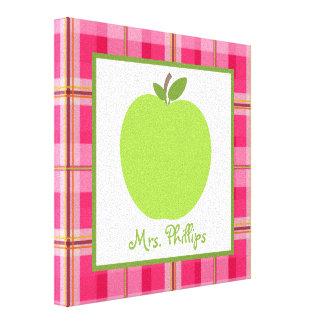 Lona envuelta tela escocesa verde de Apple para el Lona Estirada Galerías