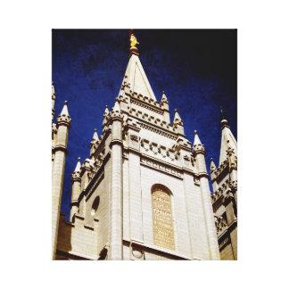 Lona envuelta templo de Salt Lake Impresión En Lona