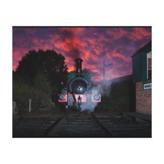 Lona envuelta tren del vapor impresión de lienzo