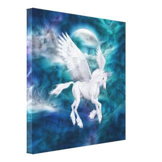 Lona envuelta unicornio etéreo de Pegaso Impresión En Lona Estirada