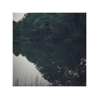 Lona envuelta Veiw del lago Impresión En Lienzo