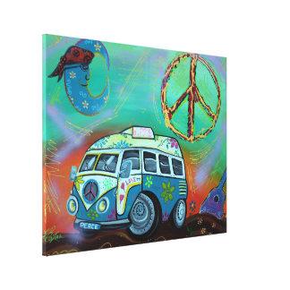 Lona envuelta viaje del Hippie Impresión En Lienzo