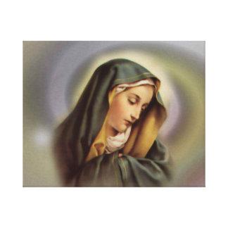 Lona envuelta Virgen María bendecida Lienzo Envuelto Para Galerías