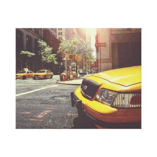 Lona envuelta visión amarilla de la calle del taxi lienzo envuelto para galerias