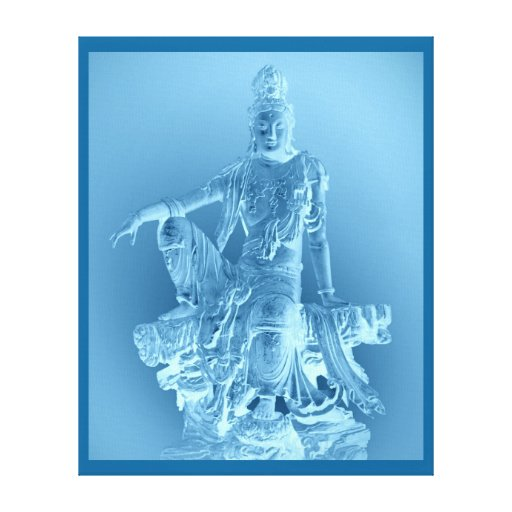 Lona envuelta Yin de Guan Impresión En Lienzo Estirada