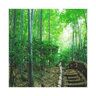 LONA ESPECTACULAR del ABRIGO del bosque de bambú V Impresión En Lienzo